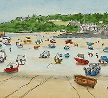 St Ives Harbour, Cornwall by Lynne  M Kirby BA(Hons)