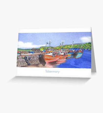 Tobermory Fishing Boats Greeting Card
