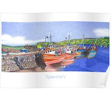 Tobermory Fishing Boats Poster
