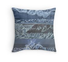 wave trio Throw Pillow