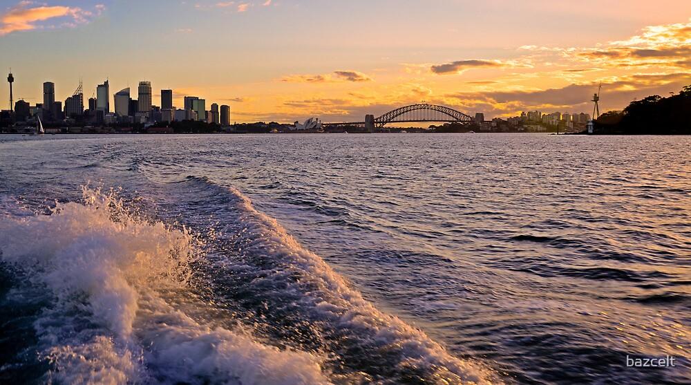 Sydney Harbour Sunset by bazcelt