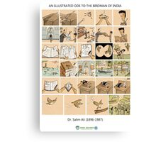 The Illustrated Life of Dr. Salim Ali- the Bird Man of India Canvas Print