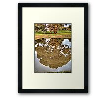 House in reflection Framed Print