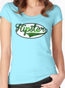 HIPSTER TEE | GREEN Women's Fitted Scoop T-Shirt