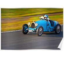 Blue Bugatti - 1927 type 35A  Poster