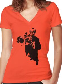 Louis Armstrong t-shirt Women's Fitted V-Neck T-Shirt