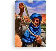 Morocco. Snake charmer. Portrait. Canvas Print