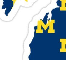 University of Michigan - State Outline Sticker