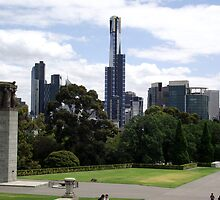 View from Shrine of Remembrance, Melbourne by SophiaDeLuna
