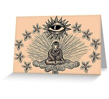 When I Look At You With Your Eyes - Monk, Eyes, Star, Third Eye Greeting Card