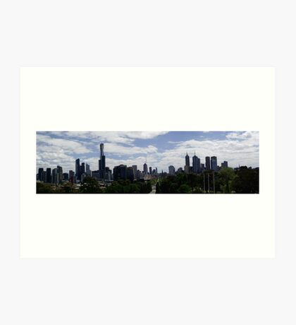 Panorama Melbourne Art Print