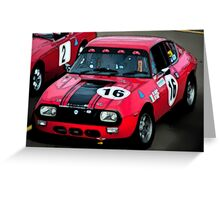 Ink Outlined Muscle Car Greeting Card