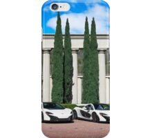 White McLaren Supercar Photoshoot iPhone Case/Skin