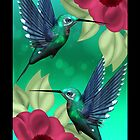 Humming Bird iPhone Case by Moonlake