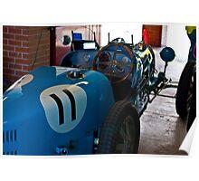 Blue Bugatti - 1927 type 35A - Back view Poster