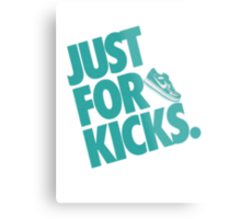 Just for kicks-Aqua Metal Print