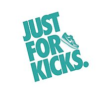 Just for kicks-Aqua Photographic Print