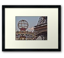 Eiffel Tower and carousel Framed Print