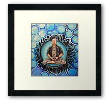Grumpy old Dad Buddhist Framed Print