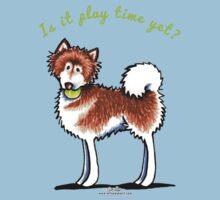 Alaskan Malamute Play Time Yet Kids Tee