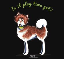 Alaskan Malamute Play Time Yet Kids Tee