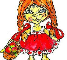 strawberry fairy Mary by Renata Lombard
