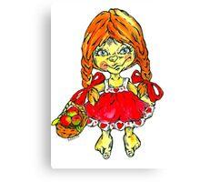 strawberry fairy Mary Canvas Print