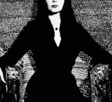 """BLACK- It's All I Wear""- Morticia Addams Sticker"