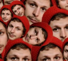 Michael Cera Plz - Red Outline Sticker