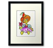 wonder who? Framed Print