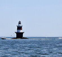 "Peck's Ledge Lighthouse by Christine ""Xine"" Segalas"