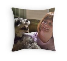 Odie and Mari Throw Pillow