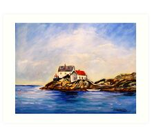 Vikeholmen Lighthouse Art Print