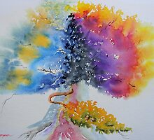 Aquarelle Live Oak by Warren  Thompson