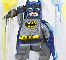 Batman in Blue by Deborah Cauchi