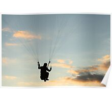 Paraglider - hanging in there Poster