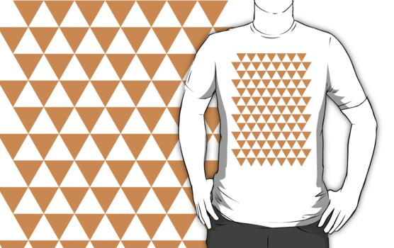 triangle waterfall (tangerine) by timmehtees