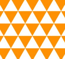 triangle waterfall (tangerine) Sticker