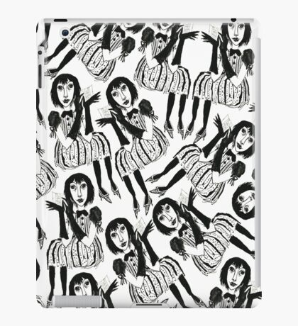 Woman with Black Gloves iPad Case/Skin