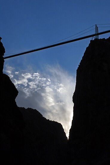 Royal Gorge Bridge and Sky  by Robert Meyers-Lussier