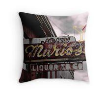 JOHN MURIOS LIQUOR TO GO  Throw Pillow