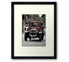 Delivering The Ale Framed Print