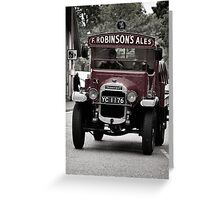 Delivering The Ale Greeting Card