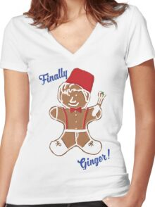 The 11th Doctor is Finally Ginger! Women's Fitted V-Neck T-Shirt