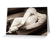 guardian angel in mourning Greeting Card