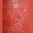 odd alien graffiti iphone by dedmanshootn