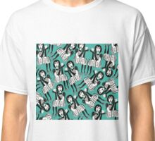 Woman with Black Gloves Classic T-Shirt