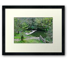 Weir Below Lover's Leap, Dovedale  Framed Print