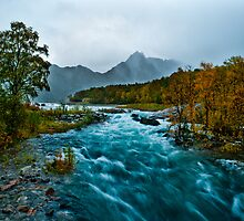 The autumn river by Frank Olsen