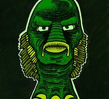 Creature from the Black Lagoon by Tylerwelleveril
